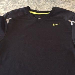 Black Nike dri fit shirt.